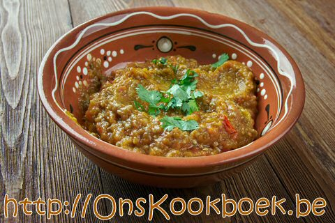 Baingan Bharta : Indisch aubergine recept
