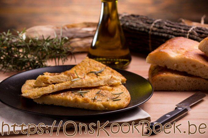 Farinata pannenkoek met kikkererwtenbloem