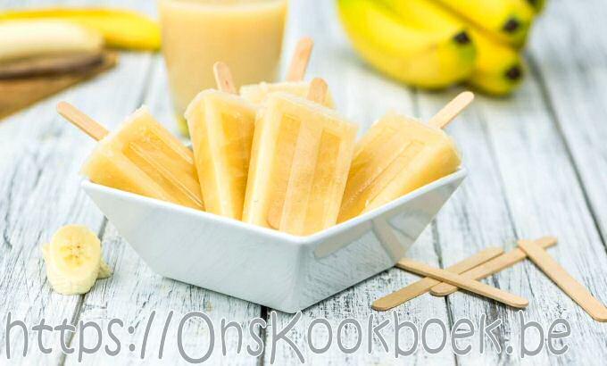 IJslollies met banaan