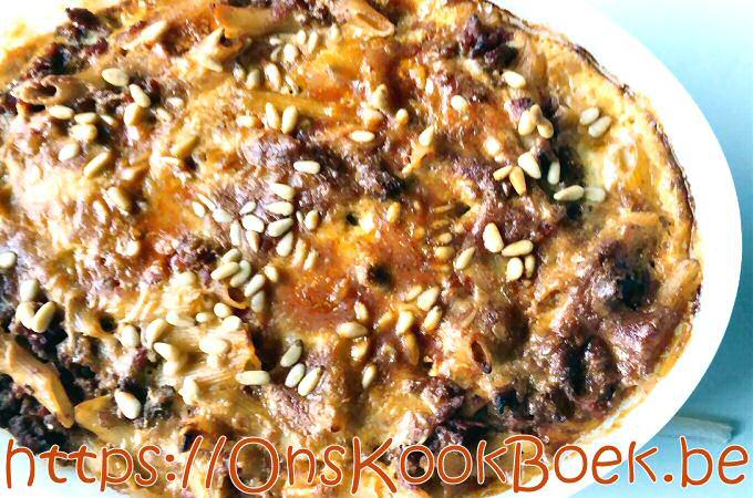 Ovenschotel met gehakt en pasta