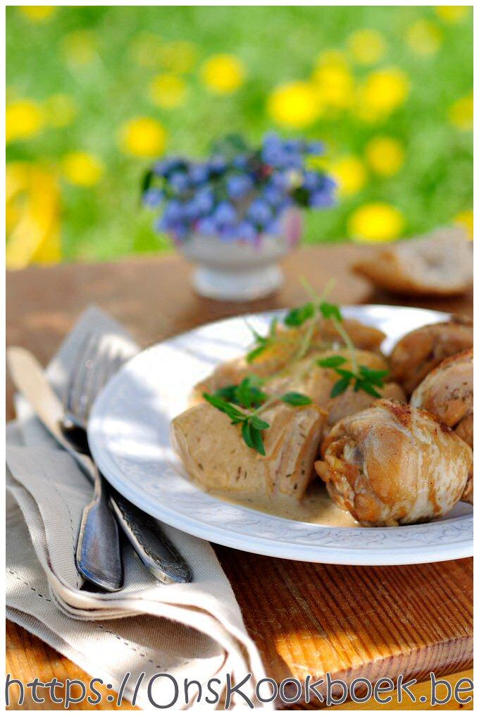Recept kip op Normandische wijze