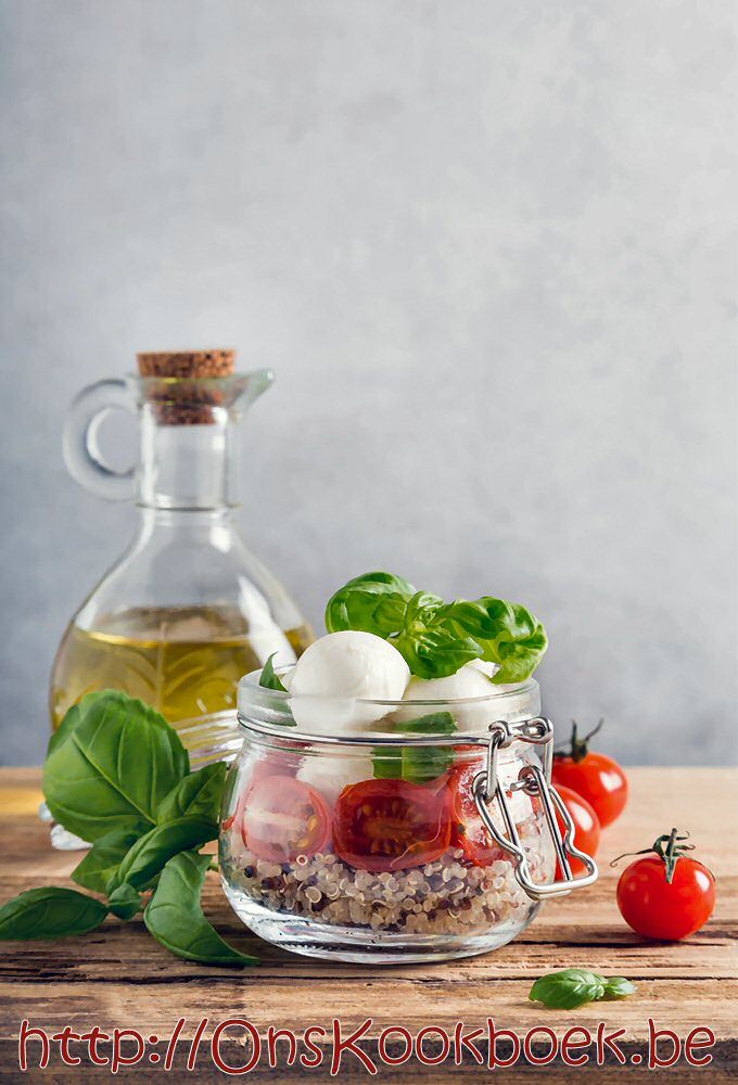 2x tomaat mozzarella salade: klassiek + nieuwe Sandra Bekkari quinoa salade