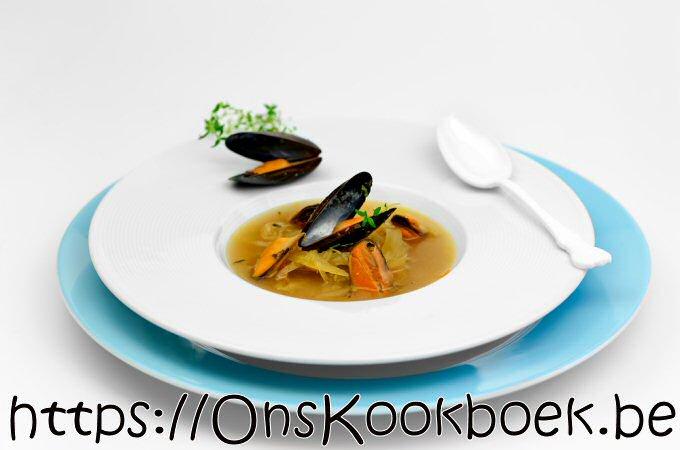 Venkel soep met mosselen