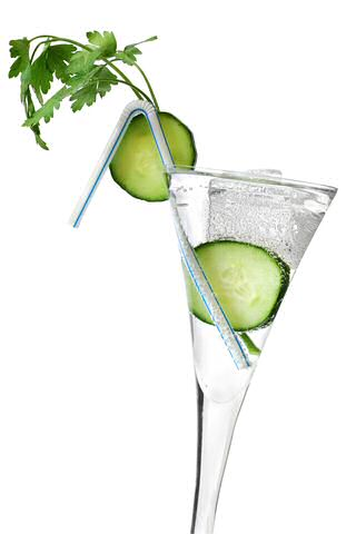 Cocktail met komkommer