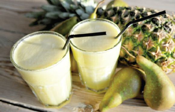 Kokos peer ananas smoothie
