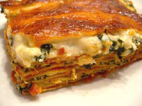 Lasagne met spinazie uit SOS Piet