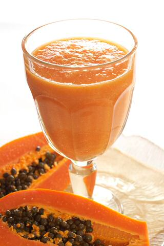 Peer smoothie met papaya