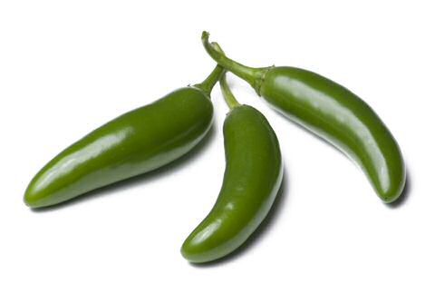 Groene Mexicaanse Serrano pepers