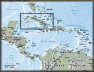 Landkaart Cuba
