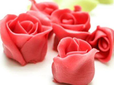 Marsepein roosjes maken