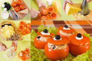 Gevulde tomaten koud