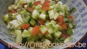 Tomaten komkommersalade