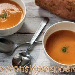 Zoete aardappel soep