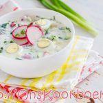 Okroshka Russische koude soep