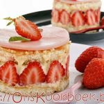 Fraisier taart maken in 15 minuten