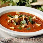 Warme Mexicaanse soep voor op grijze regendagen