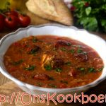 Paprika tomatensoep met kip Sandra Bekkari